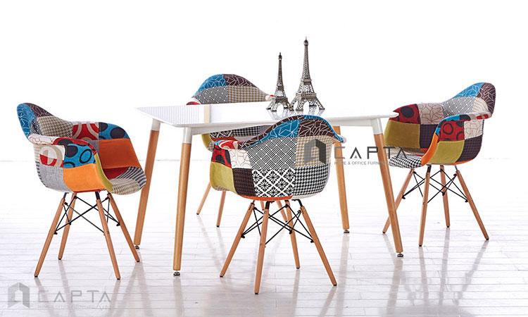 Ghế cafe-fastfood DAW-F13 bọc vải hiện đại