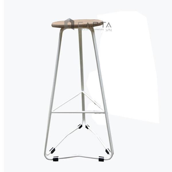 Ghế quầy bar mặt gỗ chân thépCB1541