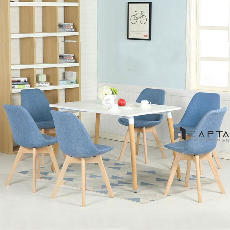Bộ bàn ăn 6 ghế SD DAW12W / DSW-F15