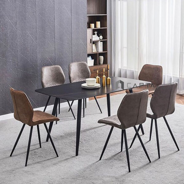 Bộ bàn phòng ăn 6 ghế nhập khẩu