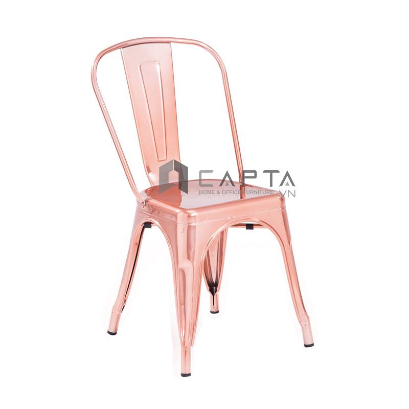Ghế Tolix-T12 màu hồng kim