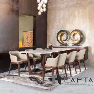 Bộ bàn ăn mặt đá 6 ghế SD CONCORDE16 / GRACE ARM - CAPTA.VN