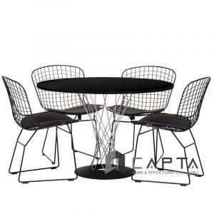 Bộ bàn tiếp khách tròn SL CYCLONE-A / BERTOIA-2