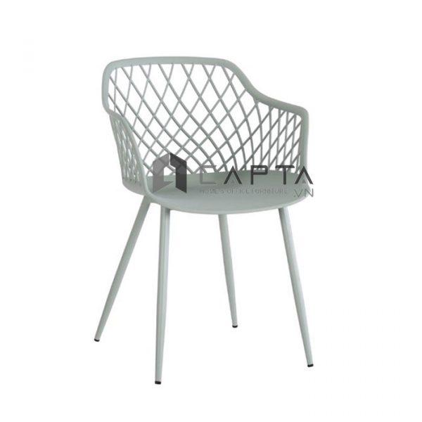 Ghế cafe-fastfood MESH-S thân nhựa chân sắt sơn tĩnh điện màu xám