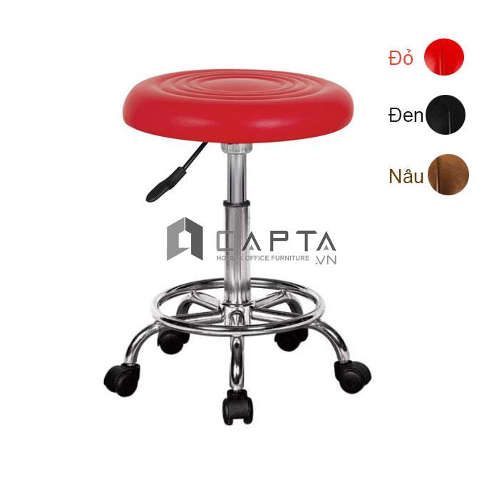 Ghế bar nệm tròn CB2256-2P pen thấp tăng giảm chân xoay