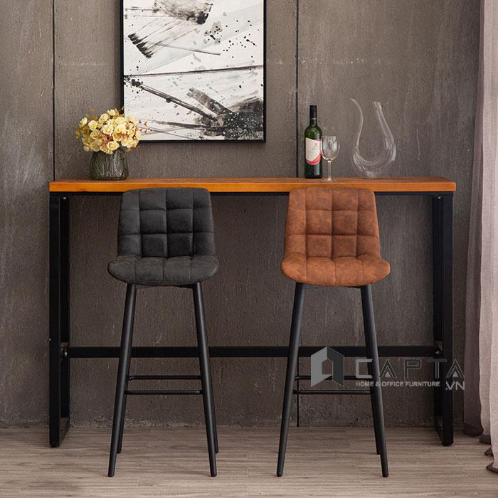 Ghế quầy bar CB2144-P xoay 360 độ thân bọc PVC cổ điển