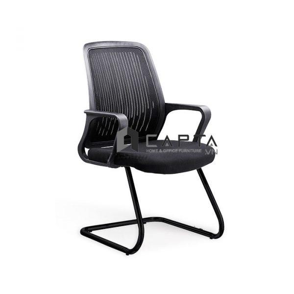 Ghế văn phòng lưng trung chân quỳ CV4266-M đen