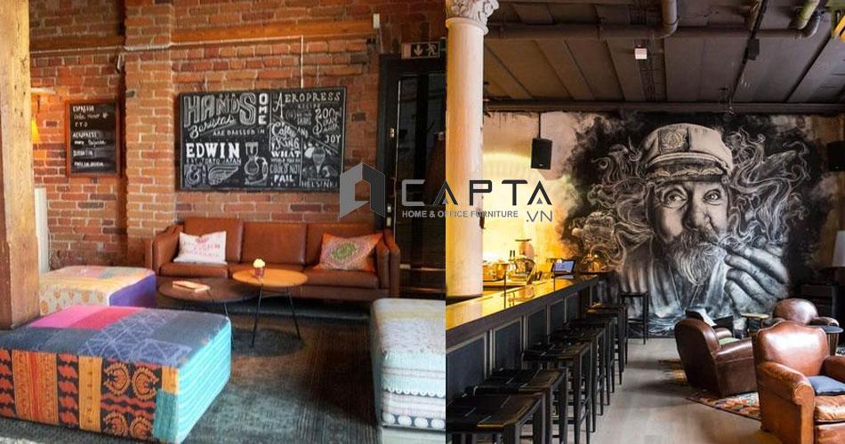 Sofa cafe nhà hàng chất liệu PVC