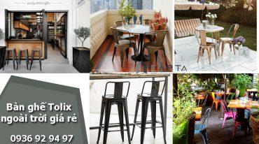 Nơi bán bàn ghế Tolix ngoài trời giá rẻ dành cho quán cafe nhà hàng