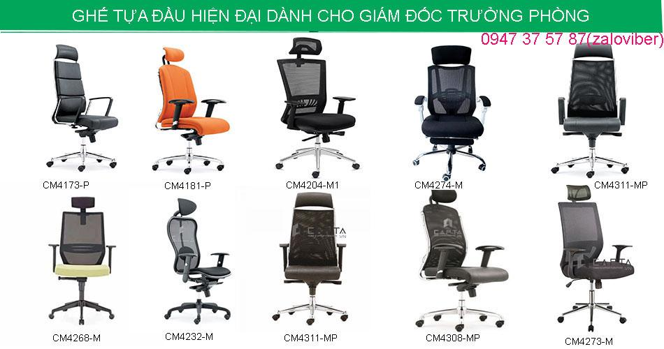 Ghế giám đốc ghế trưởng phòng nhập khẩu cao cấp tại TpHCM – ghế có tựa đầu