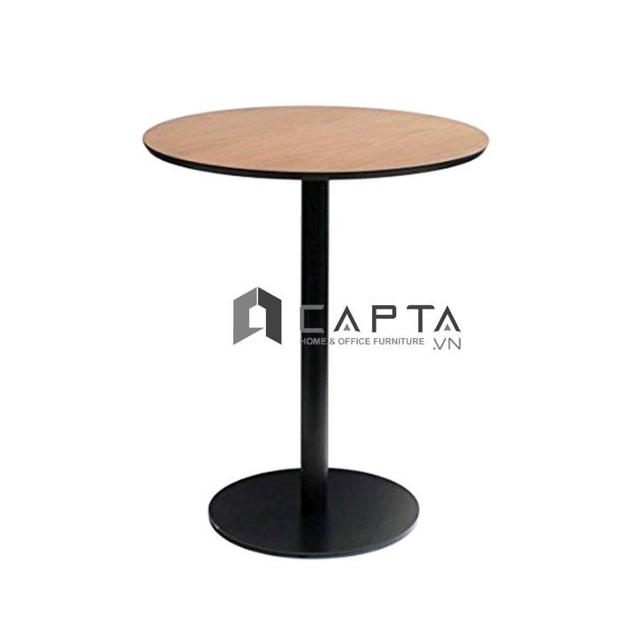 Bàn cafe chân sắt mặt gỗ tròn