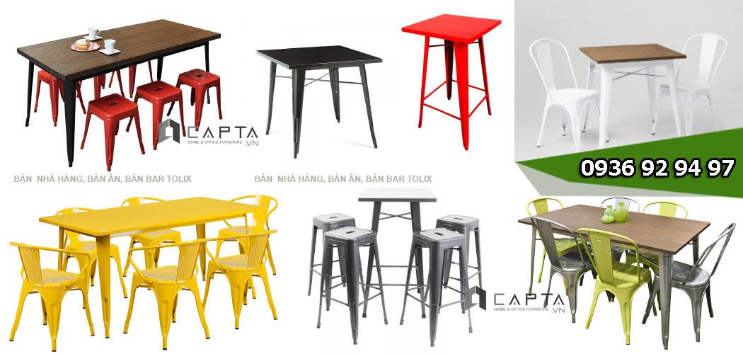 1.Bàn Tolix | Nơi bán bàn ghế Tolix ngoài trời giá rẻ dành cho quán cafe nhà hàng