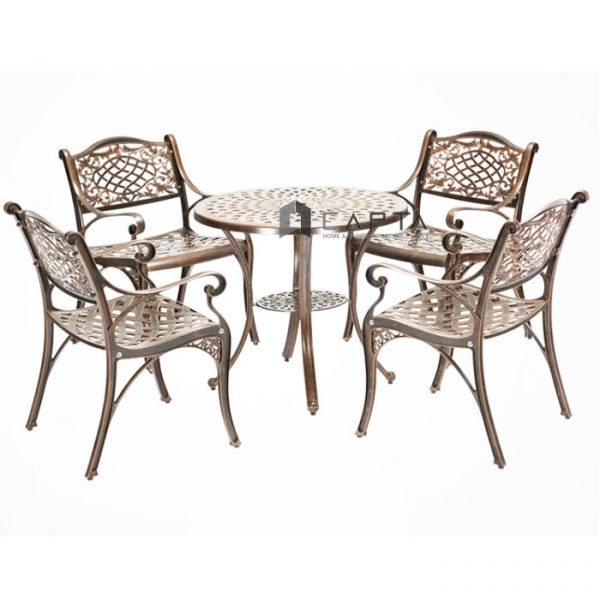 Bộ bàn ghế cafe sân vườn nhôm đúc nhập khẩu