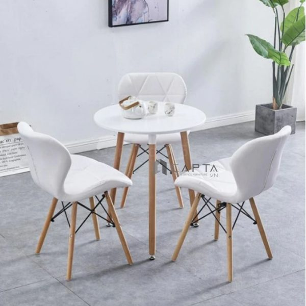 Bộ bàn tròn tiếp khách ghế có nệm dành cho phòng khách nhỏ