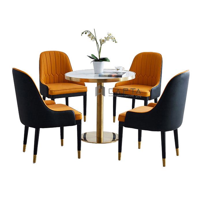 Bộ bàn tròn tiếp khách 4 ghế Sala sang trọng