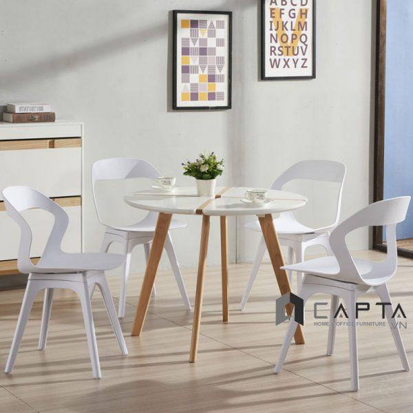 Bộ bàn tiếp khách 3 ghế nhựa đúc cao cấp nhập khẩu