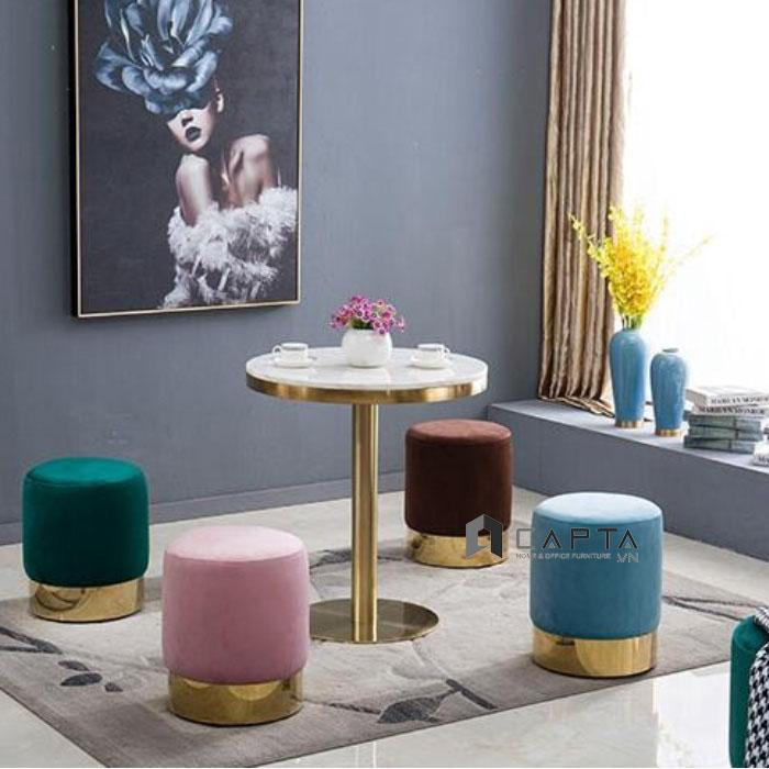 Bộ bàn ghế đôn tiếp khách sang trọng dành cho phòng khách