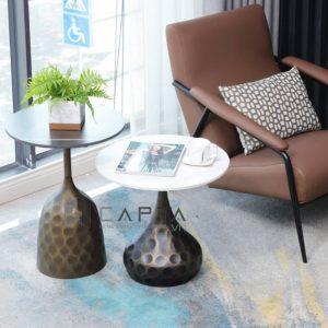 Bàn trà sofa mặt kính giả đá sang trọng