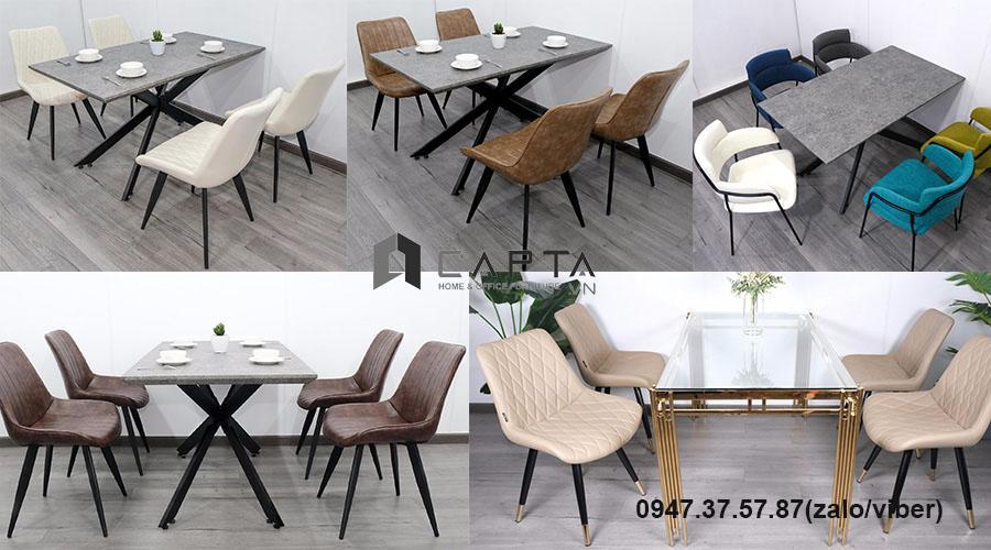 Bộ bàn ăn bốn ghế hiện đại nhập khẩu giá rẻ tại TpHCM