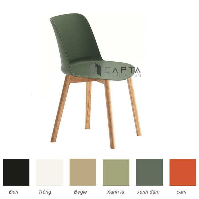Ghế ăn thân nhựa Tobe chân gỗ