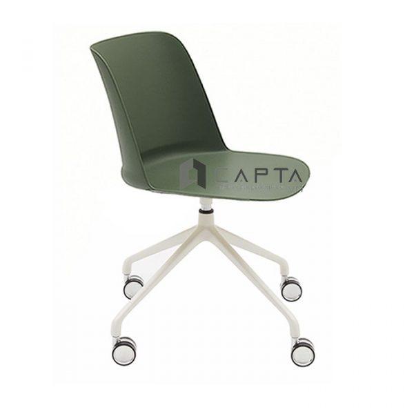 Ghế phòng họp cao cấp Tobe thân nhựa chân bánh xe