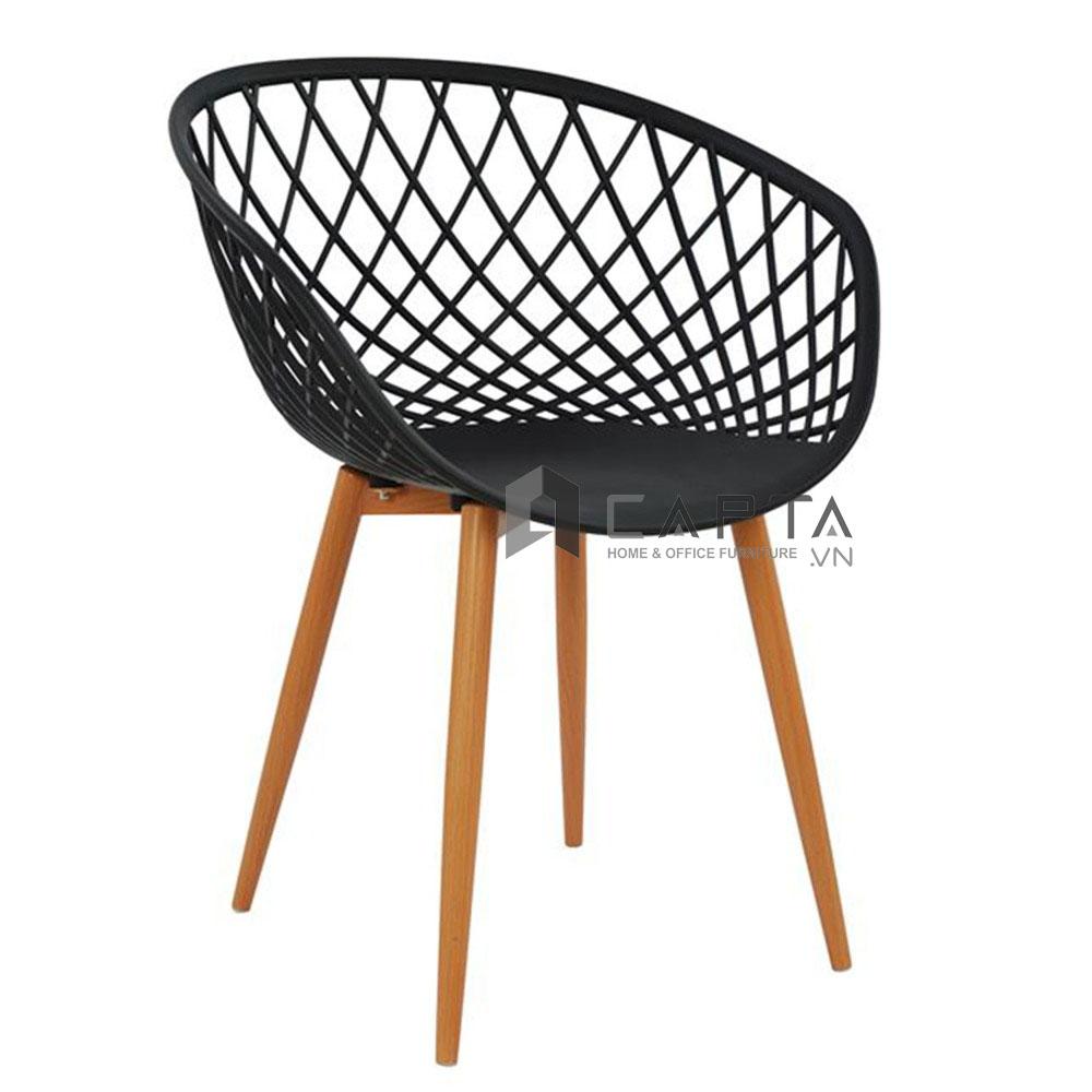 Ghế cafe thân nhựa Basket cao cấp nhập khẩu