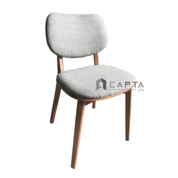 ghế cafe gỗ tự nhiên nệm vải