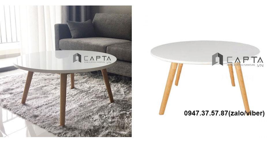 TS0922-08 Bàn sofa tròn mặt gỗ hiện đại nhập khẩu giá rẻ