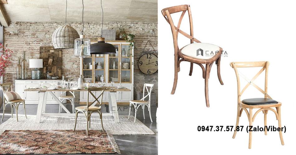 BISTRO Ghế gỗ nhà hàng đẹp giá rẻ tại HCM