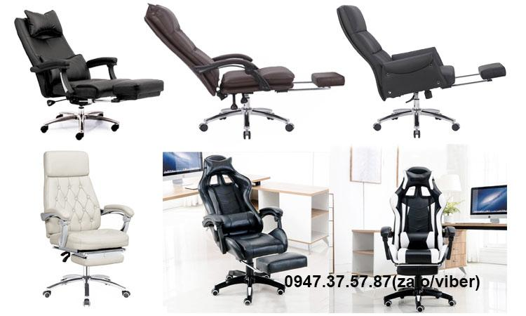 Ghế văn phòng có thể ngủ trưa nệm bọc da giá rẻ tại TpHCM