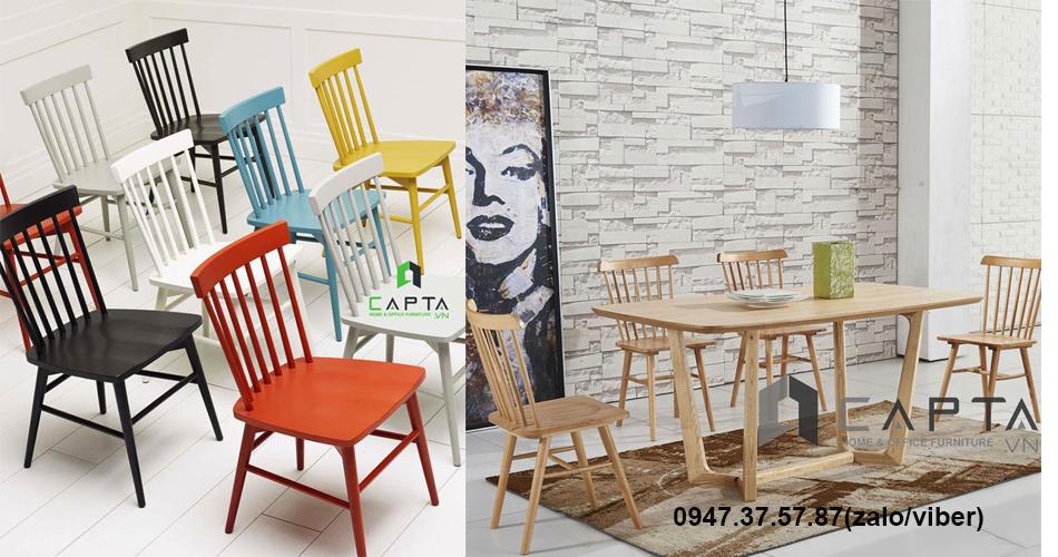 PINNSTOL Ghế gỗ nhà hàng đẹp giá rẻ tại HCM