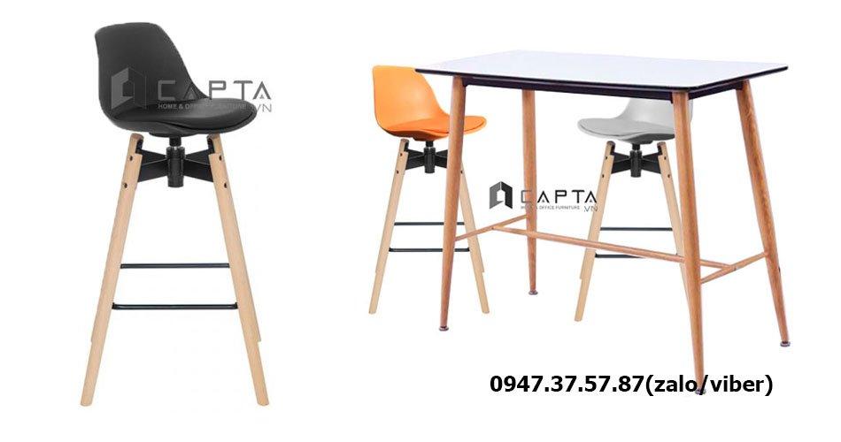 SL TB1533-12W/CB2138-P Bộ bàn ghế quầy bar dành cho quán cafe hiện đại sang trọng tại HCM