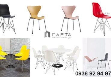 Các mẫu ghế cafe thân nhựa chân kim loại giá rẻ tại HCM 2