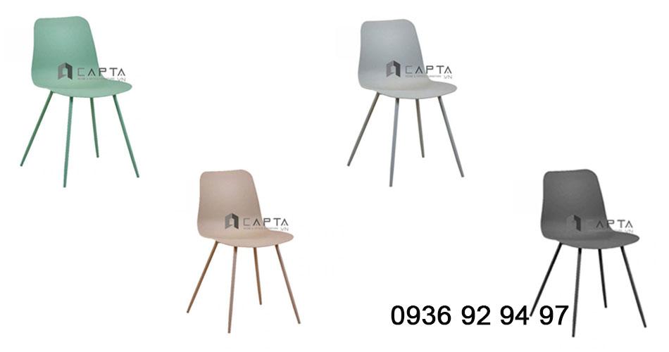 Các mẫu ghế cafe thân nhựa chân kim loại giá rẻ tại HCM CC3004-S