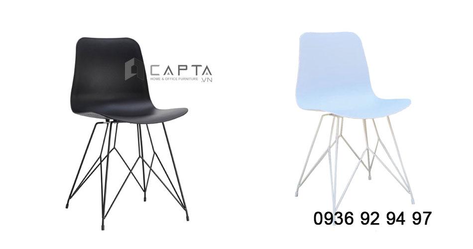 các mẫu ghế cafe thân nhựa chân kim loại giá rẻ tại HCM CC1548-P