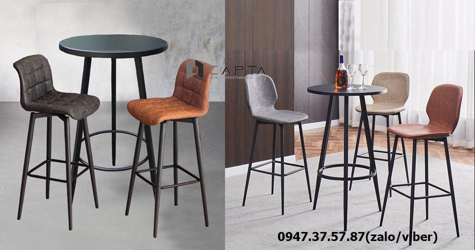 Bộ bàn ghế quầy bar dành cho quán cafe hiện đại sang trọng tại HCM