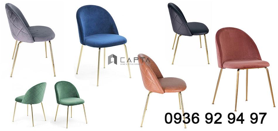 VELVET TOP những mẫu ghế ăn chân mạ vàng có ống đồng cao cấp tại HCM