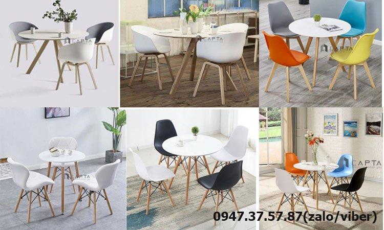 Các mẫu bàn ghế chân gỗ phòng khách 3 - 4 người nhỏ đẹp giá rẻ tại HCM 1