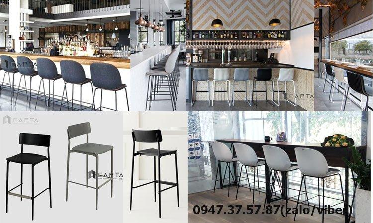 Nơi mua ghế bar nhà hàng cao cấp chân sắt cố định nhập khẩu tại HCM 1