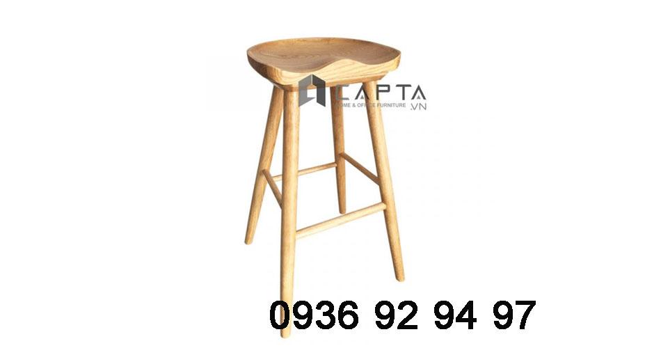 CB2146-75W ghế quầy bar đảo bếp đẹp chân gỗ cố định cao cấp tại hcm