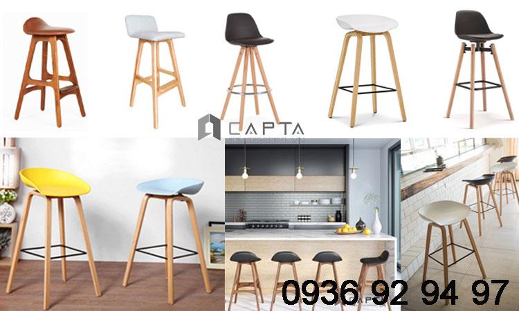 TOP ghế quầy bar đảo bếp đẹp chân gỗ cố định cao cấp tại hcm 1