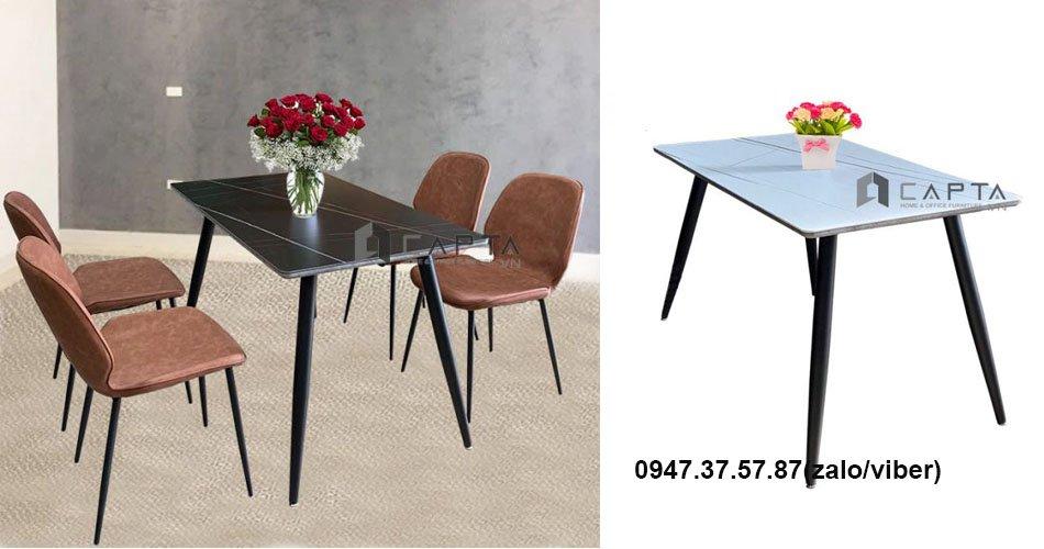 Bộ bàn ghế ăn mặt đá phiến nhập khẩu
