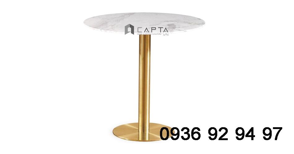 TE1532-06E Bàn tiếp khách đẹp cho văn phòng nhỏ chân mạ vàng giá rẻ tại HCM