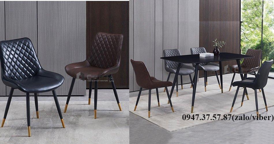 Bộ bàn ăn 4 ghế có nệm cao cấp hiện đại nhập khẩu