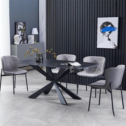 Bộ bàn ăn 4 ghế mặt đá phiến tự nhiên nhập khẩu
