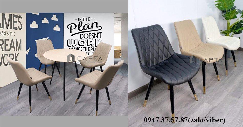 Bộ bàn ghế tiếp khách mặt gỗ chân sắt 4 ghế sang trọng