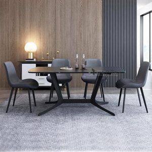 Bộ bàn ăn mặt đá tự nhiên 4 ghế cao cấp