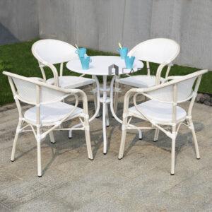 Bộ bàn 4 ghế lưới sân vườn ngoài trời
