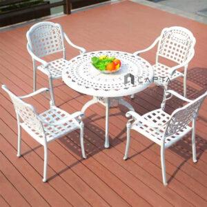 bộ bàn ghế sân thượng ngoài trời 4 ghế