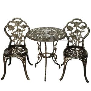 Bộ bàn ghế sân vườn đẹp nhôm đúc nhập khẩu